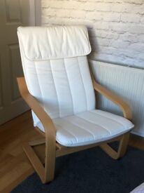 IKEA Poäng Armchair - Excellent Condition - Cream / Off White