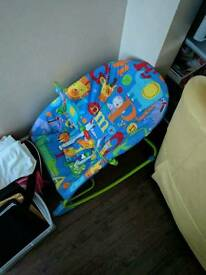 Perfect condition blue vibrating bouncer