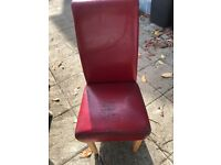 Free dining room chairs x 6