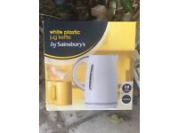 Kettle - white sainsburys brand to give away