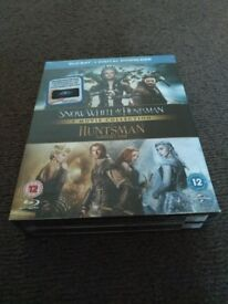 *New & Sealed * Snow White And The Huntsman/ The Huntsman: Winter's War - Blu Ray