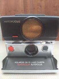 Vintage Polaroid SX-70 autofocus SLR camera