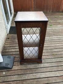 Dark wood hifi cabinet