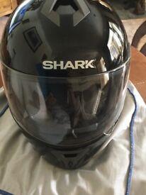 Motorbike helmet, shark in pristine condition