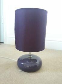 Purple/Plum Matching Lamp and Lightshade