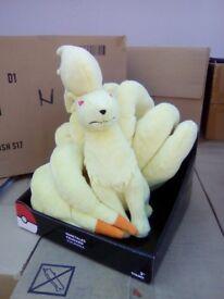 bulk Buy 6 units 12 inch Pokemon plush Nine-tails with card display stand