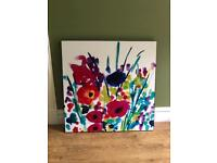Lovely large glossy floral picture art