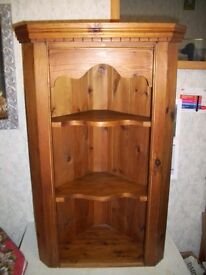 3 Shelf Pine Corner Unit H 31 X 57 X D 40 cm