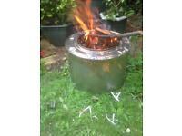 FIRE BIN RECYCLED WASHING MACHINE DRUM £10.00.