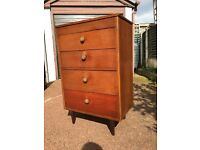 Vintage / Retro Chest Of Draws - Ercol Style Chest Of Draws - Tall Chest Of Draws - Must Go