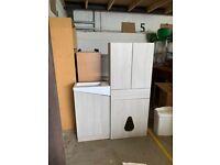 Double WC unit, sink unit including sink