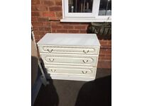 White sturdy chest of drawers used