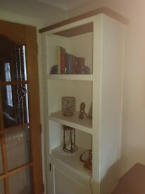 Cream and Oak coloured display cabinet from Next