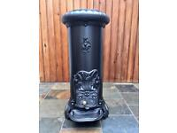 Decorative French Cast Iron Woodburner Stove Fire. 8kw.