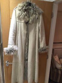 Beautiful floor length sheepskin fur lined inside