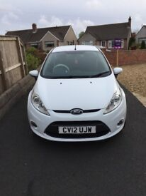 2012 Ford Fiesta, white, 69,000miles, Recent MOT, Excellent condition inside and out.