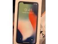 Apple iphone X silver 64Gb UNLOCKED 2 months old!!