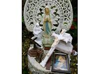 Lot of vintage religious items