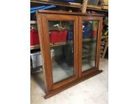 Quality hardwood window frame, glazed & furnished