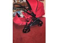 Double britax pushchair can be used as a single also excellent condition with rain cover
