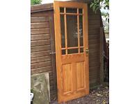 Internal wood and glass door