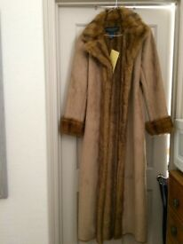 Centigrade Faux Shearling & Fur Lined Coat in Size Small - New with Labels
