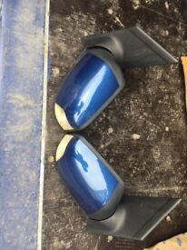 Pair of electric blue Ford Focus wing mirror covers