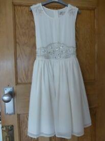BHS JR Marylebone Ivory Bridesmaid Dress Age 10-11yrs