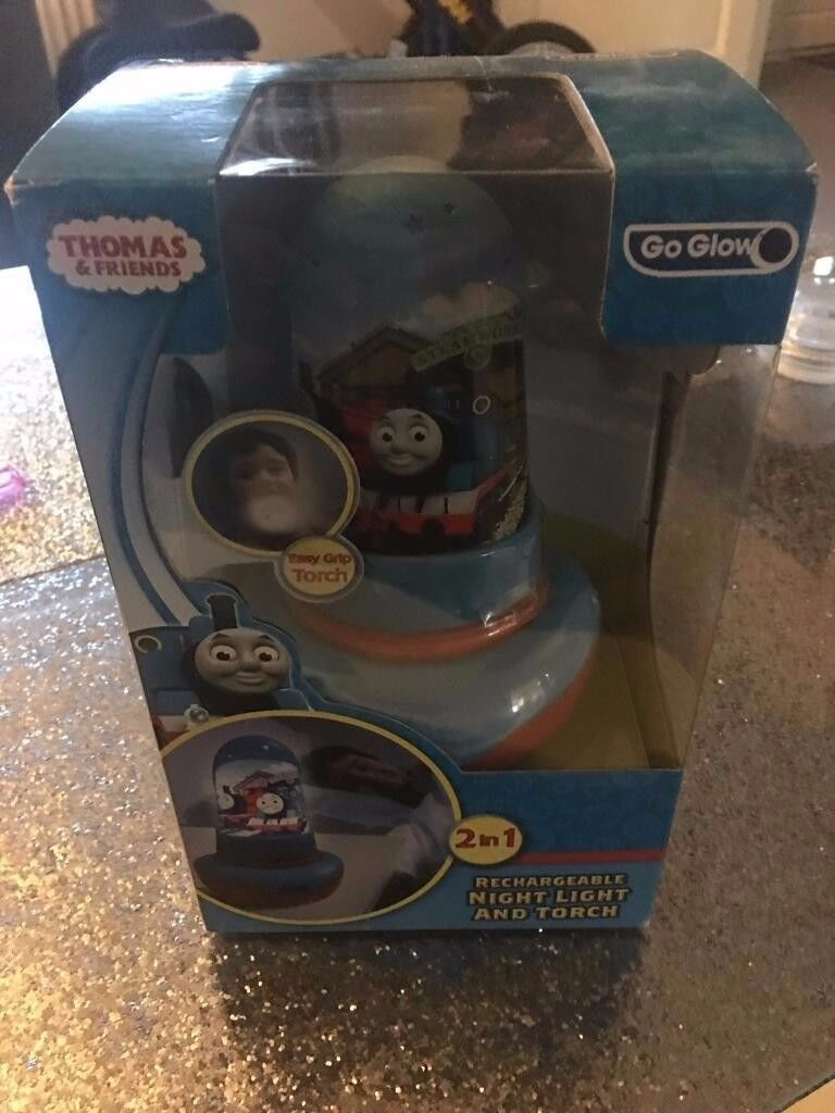 thomas the tank engine go glow nightlight and torch - brand new sealed