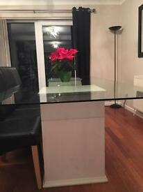 Very large glass dining table for sale