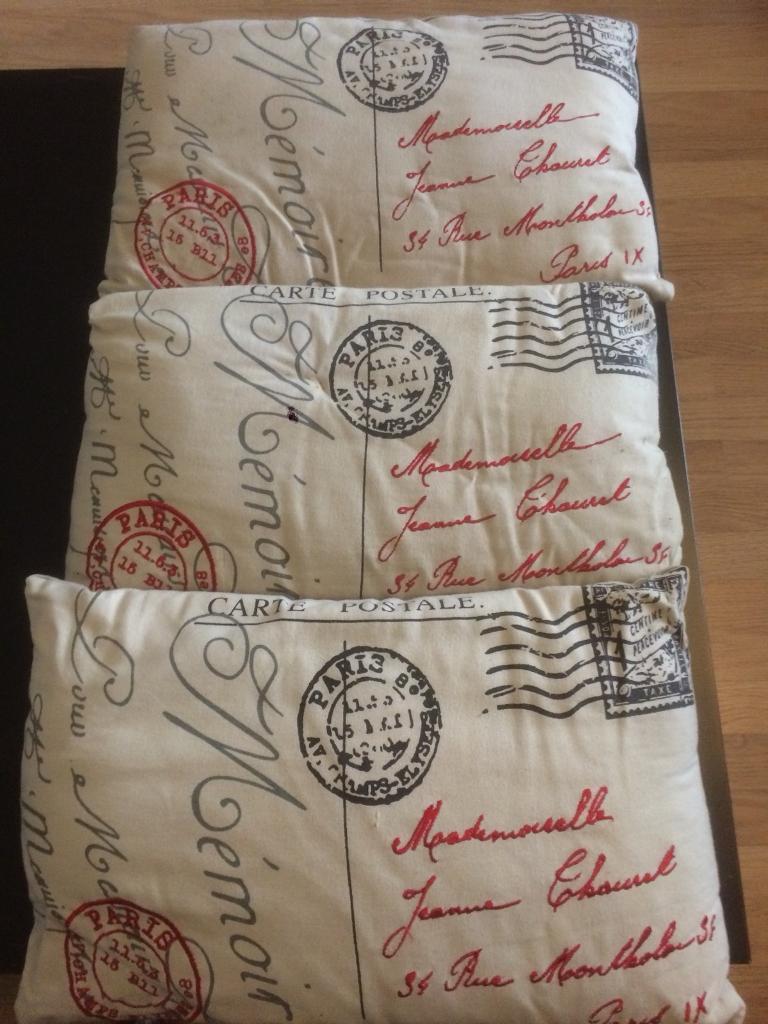 3 cushions postage design