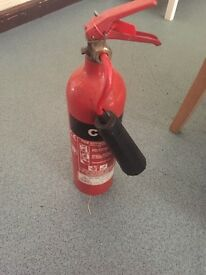 Water, CO2 and Foam Fire Extinguishers