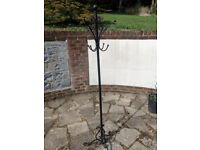 Trendy Black solid metal Coat and Hat Stand