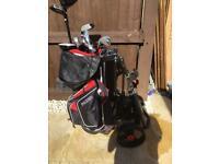 Fazer CTR20 golf clubs and S5 Series 3 wheel trolley.