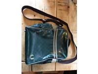 Fred Perry Bradley wiggins leather unisex shoulder bag