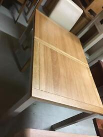Cream and oak extending table sale