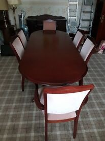 Mahogany Dining Furniture Set