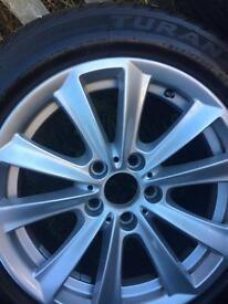 Genuine BMW 17 x 4 Alloy Wheels and BRIDGESTONE TYRES
