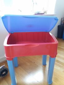 Kids study table, high quality plastic with storage box