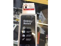 SAMSUNG GALAXY NOTE 5 unlocked brand new box accessories warranty & Shop receipt