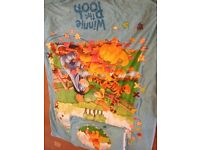 Winnie the Pooh bedding and accessories (light shade and wall clock) Exc Cond