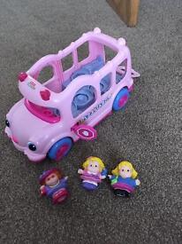 Fisher Price Little People Musical Pink Bus