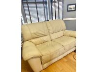 2 double Leather Recliner Sofas