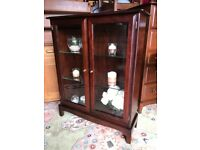 Stag Minstrel Mahogany Glass Display Unit China Cabinet Cupboard - Delivery Available