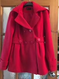 Size 12 red coat