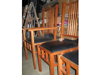 High Quality Cherry Wood Dining Chairs x 4 (1 x carver)