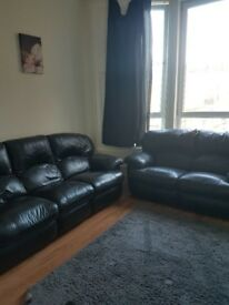 3 seater and 2 seater reclining sofas, and lounge unit in Renfrew