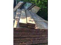 Gravel Boards, Pressure treated brown, 2.4m long, fence, fencing, boarders, timber, wood