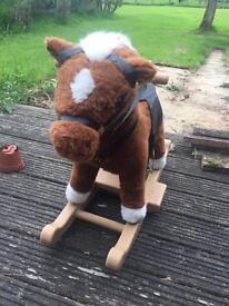 Child's rocking horse toy