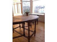 Drop Leaf Table and Three Chairs